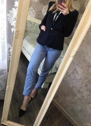 Темно-синий пиджак mango6 фото