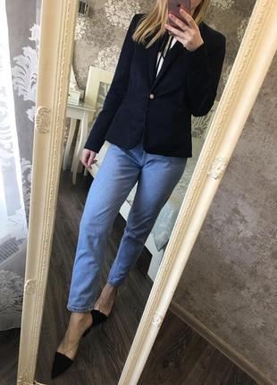 Темно-синий пиджак mango7 фото
