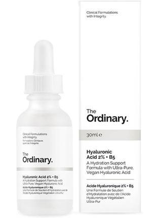 Сыворотка с гиалуроновой кислотой the ordinary hyaluronic acid 2% + b5 , 30 мл