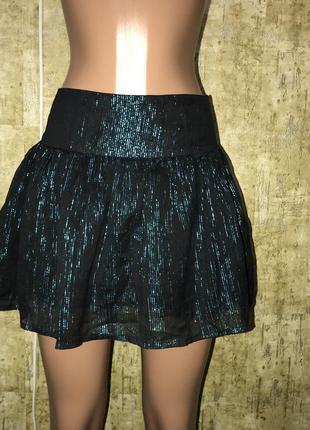 Чёрная мини юбка,юбка-пачка,юбка в полоску
