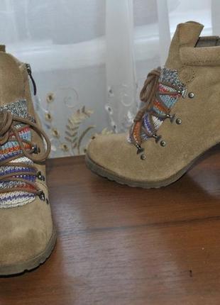 Замшевые ботиночки tamaris,р 40 ст 26.5 см