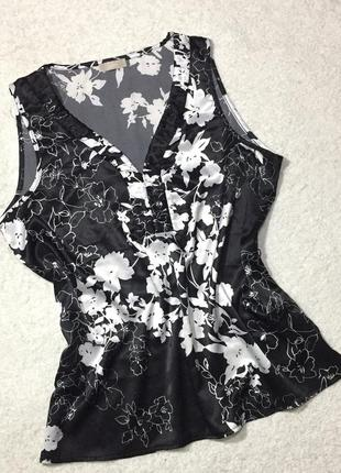 Красивая блуза майка топ в цветочный принт soon
