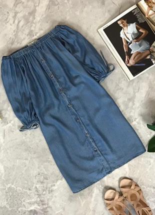 Стильное платье с облегченного денима  dr1914088 new look