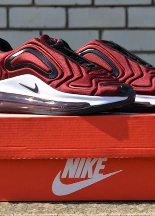 Шикарные женские кроссовки nike air max 720 burgundy