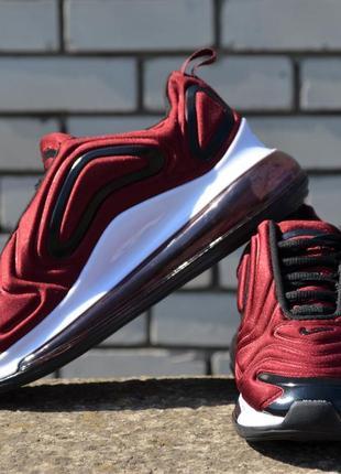 Шикарные женские кроссовки nike air max 720 burgundy5 фото