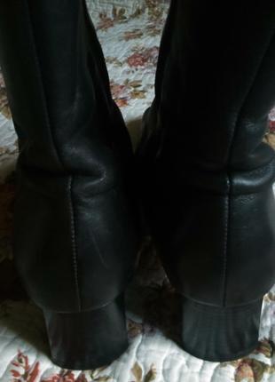 Распродажа! отличные теплые полусапожки  gabor черные натуральная кожа и мех размер 6.53