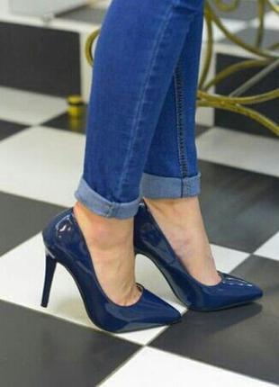 Натуральная кожа! стильные туфли, лаковые лодочки alta brezza, 38 р