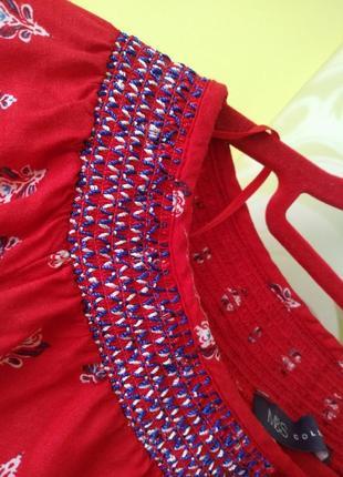 Яркая блуза рубашка с вышивкой от m&s3 фото