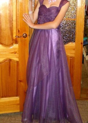 Эффектное вечернее платье выпускное торжественное в пол.
