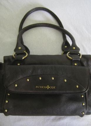 Кожаная сумка patrick cox, англия, оригинал!!!