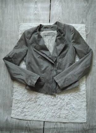 Серая куртка косуха ветровка байкерская косая молния от drykorn (asos) s