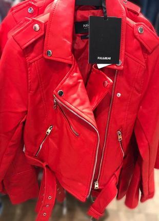 Куртка из искусственной кожи8 фото