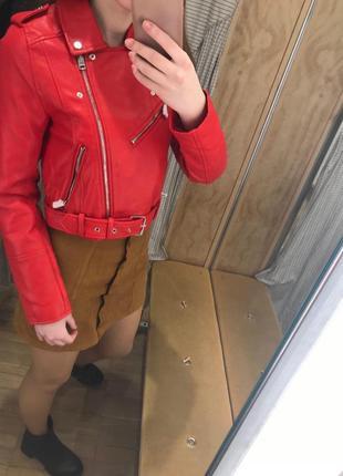 Куртка из искусственной кожи3 фото