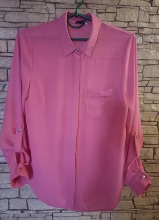 Рубашка,батник,цвет фуксии