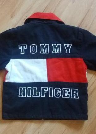 Котоновая куртка tommy hilfiger