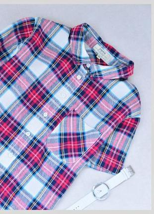 Блуза топ рубашка в клетку летняя papaya сорочка топ в клітинку