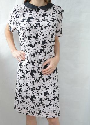 Платье в цветы свободного кроя f&f сукня у квіти вільного крою