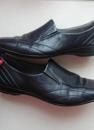 Кожаные туфли ecco 39р