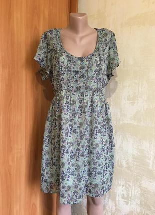 Воздушное шифоновое платье в принт,бохо!!