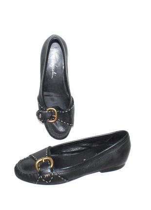 Туфли мокасины деми кожа люкс бренд henry beguelin италия 36 р