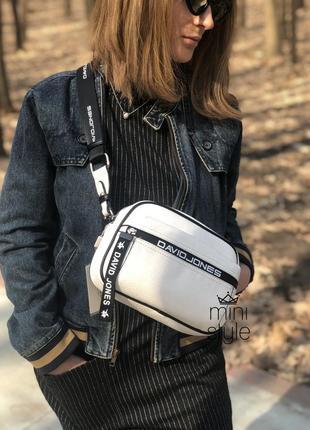 Сумка на длинной ручке cross-body сумочка трендовая и стильная кроссбоди david jones8 фото