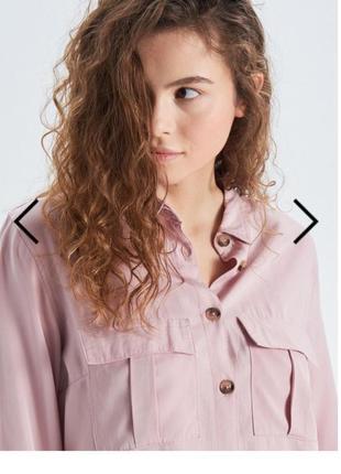 Красивая рубашка пудрового цвета