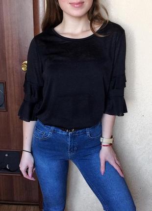 Кофта/блуза с рукавами колокольчиками/воланами/рюшами