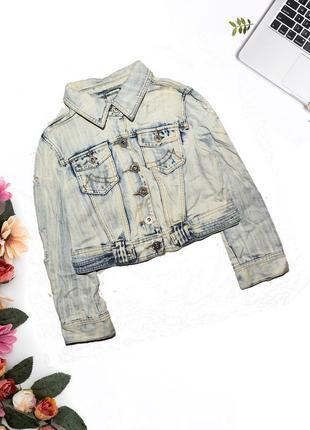 Куртка джинсовая с потертостями heart and soul