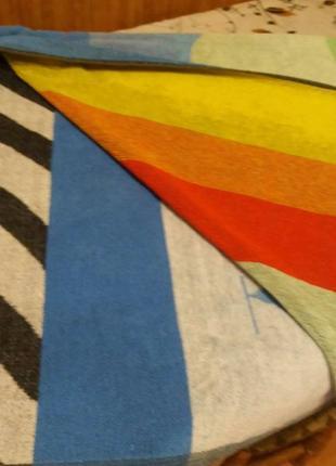 Махровая простынь-полотенце 170см на 130см