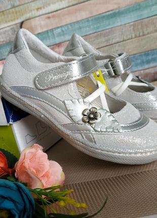 Новые кожаные туфли primigi. разм.24. италия2 фото