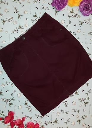 Акция 1+1=3 стильная юбка - карандаш цвета баклажан cecil, размер 48 - 50