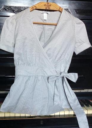 Блуза на запах в полосочку