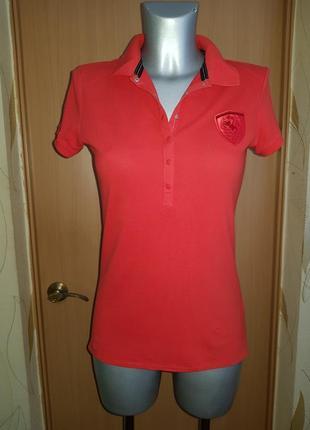 Красная футболка поло puma ferrari оригинал