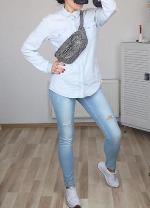 Летние джинсы скинни-slim,средняя посадка,светлые,s-m