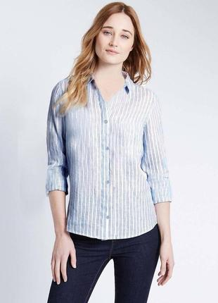 Florence&fred. царица подиумов-полоска. рубашка на пуговицах. на наш размер 48