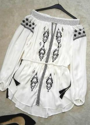 Блузка, туника, вышиванка, платье river island, mango, zara, bershka, asos, reserved, next
