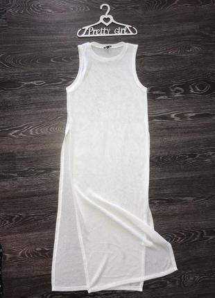 Крутая накидка с разрезами в пол майка платье river island