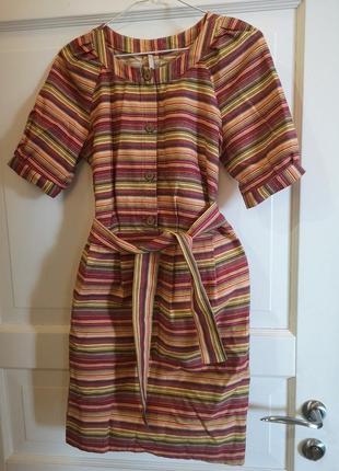 Яркое хлопковое платье украинского производителя, размер s