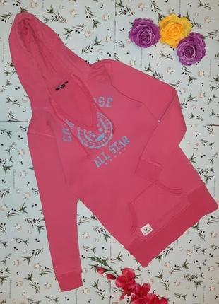 Крутая фирменная розовая толстовка худи свитер converse, размер 46 - 48