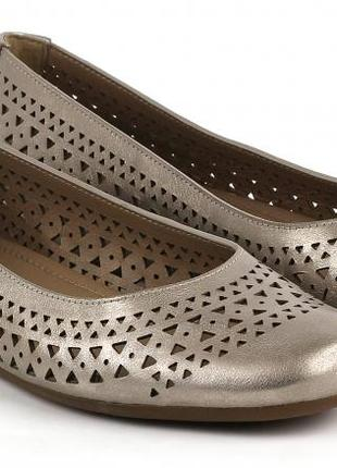 Балетки туфли ecco touch 41 рр кожа 27 см стелька женские
