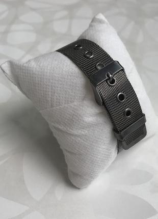 Женские наручные металлические тонкие мраморные часы графит черные4 фото