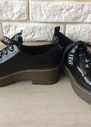 Новые крутые туфли bershka, р.37 на 23,5 см.7 фото