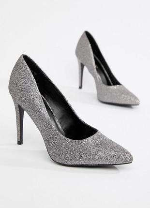 Шикарные туфли под серебро