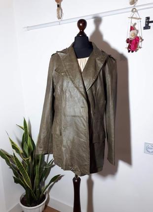 Винтажная кожаная куртка ferre