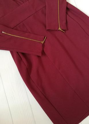 Платье бордового цвета , марсала от h&m3 фото