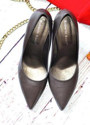 Базовые кожаные туфли roberto santi