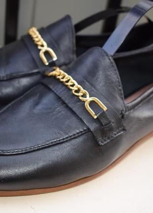 Стильные кожаные туфли лоферы слипоны балетки topshop р.416 фото
