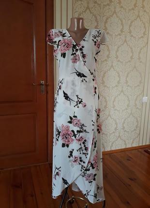 Bisou's project красивенное платье на запах в цветочный принт