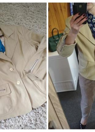 Актуальный кожаный жакет, пиджак,куртка, р. 46-48