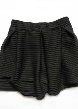 Стильная юбка-шорты с высокой посадкой2 фото